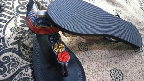 africaine sandale kenyan vente masai Sandales perles sandale sandales africaines v vqYTwU8w
