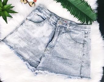 1990/'s Studded Jean Shorts Denim  Star Studs 90/'s Cut Offs  Nineties High Waist Shorts  Festival Style Boho Rocker Babe