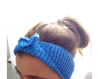Knit Bow Ear Warmers