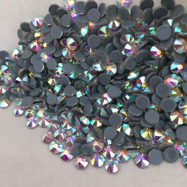 afaa789355cc Swarovski HOTFIX Crystals AB flat back rhinestone gems charms