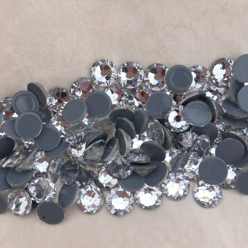 8a404ea2432c Swarovski HOTFIX crystals CLEAR flat back rhinestone gems