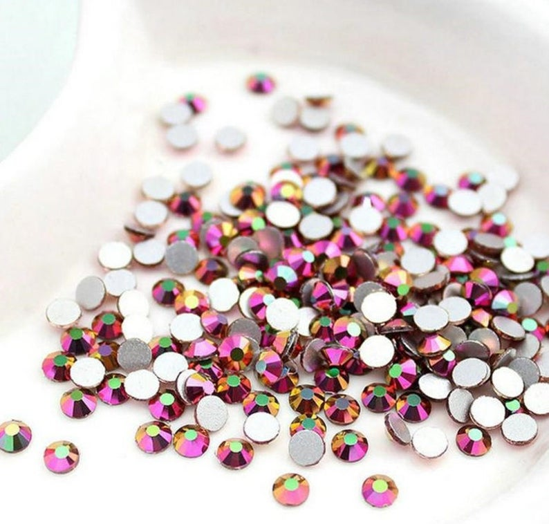 f1d66d0942cb Swarovski Crystals ROSE RAINBOW flat back rhinestone gems