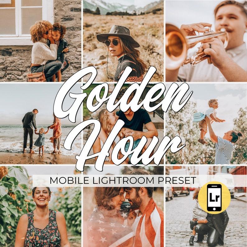 Lightroom Mobile Preset: Golden Hour, Warm and Bright Preset, Wedding  Portrait Preset, Modern Bright and Orange Preset, VSCOcam Preset