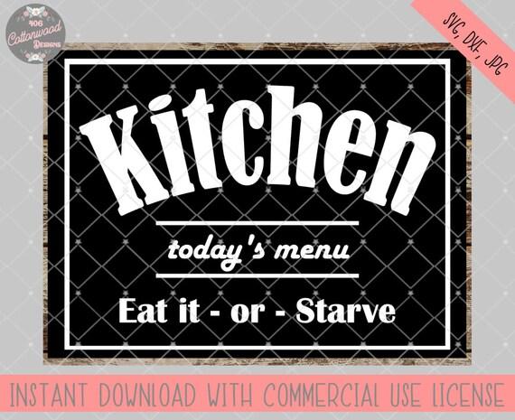 Kitchen Svg File Set Kitchen Sign Svg File Set Kitchen Dxf Etsy