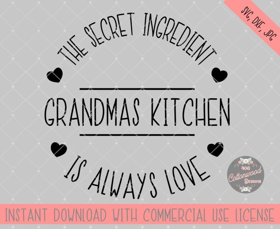 Grandmas Kitchen Svg File Grandmas Kitchen Sign Cut File Etsy