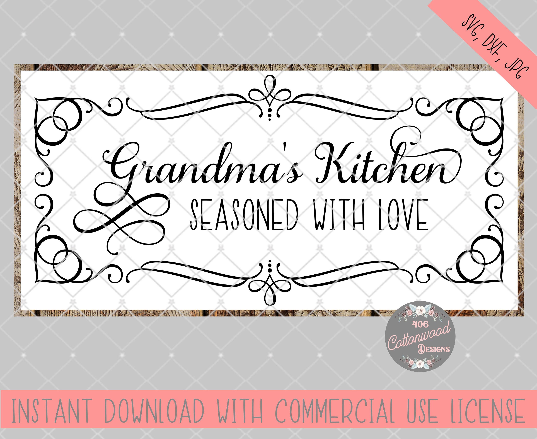 Gma Kitchen Stencil Glamma S Kitchen Svg File Grandmas Kitchen File Glamma S Kitchen Sign Cut File Glamma S Kitchen Svg Craft Supplies Tools Stencils Templates Kromasol Com