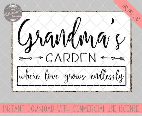Grandma S Garden Svg File Grandma S Garden Cut File Etsy