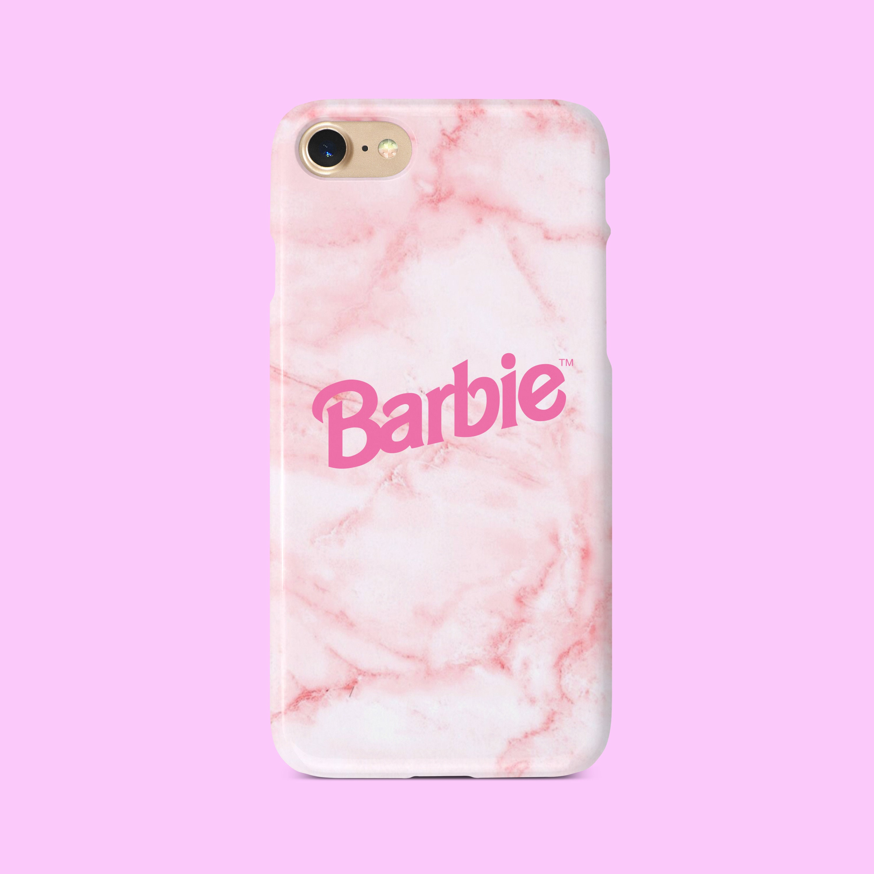 low priced 7bfb3 01fb4 Barbie Pink Phone Case iPhone Phone Case Cover For iPhone 6/6, 7, 8, 7+,  8+, X