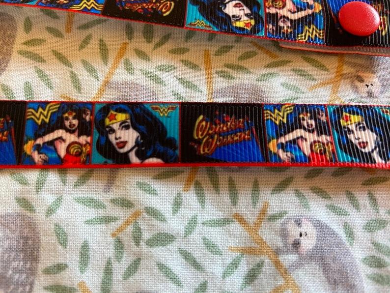 Wonder Woman Face Mask Lanyard Ribbon super hero strap holder superhero Kids necklace
