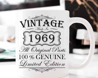 50th Birthday Mug Gift For Dad Him 1969 Coffee Turning 50 Born In