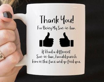 For Son-in-law Mug - Family Mug Thank You Mug for Son-in-law Thank You Mug Son-in-law Gift Ideas  Gift from Parents Coffee Mug & Son in law mug | Etsy