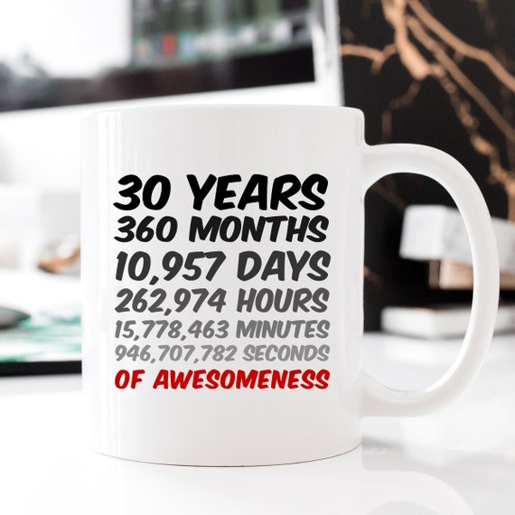 30 Years 30th Birthday Mug Anniversary Gift Mum Dad Son