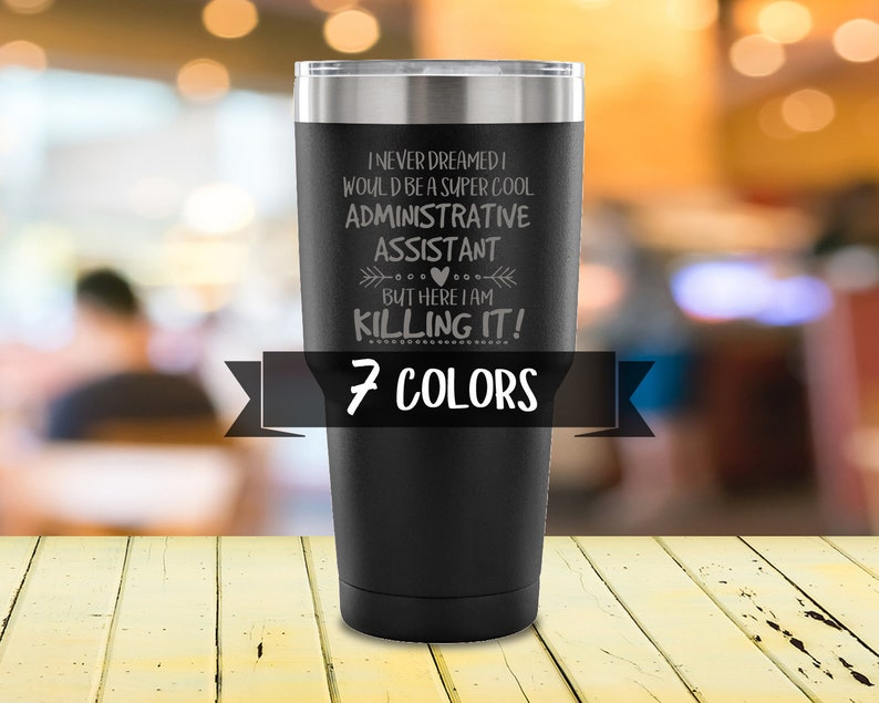 Admin Assistant Travel Mug Stainless Steel Tumbler Super image 0