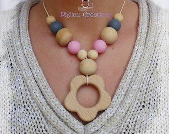 Babywearing necklace, nursing, teething