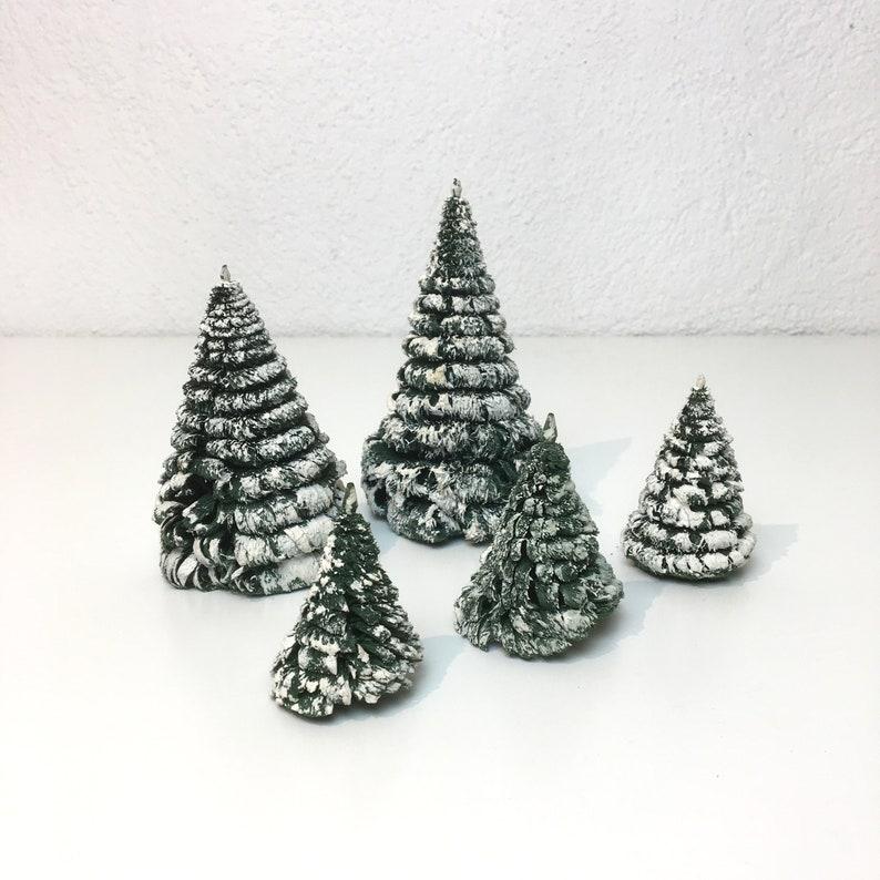 Tannenbaum Erzgebirge.Weglö Erzgebirge Miniatur Bäume Schneebedeckte Tannenbäume Etsy