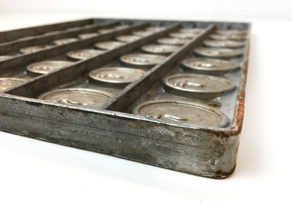 Commercial Chocolate Mold Union Chocolate Factory Haarlem Small Bonbons square-shaped Patisserie First half of 20th Century