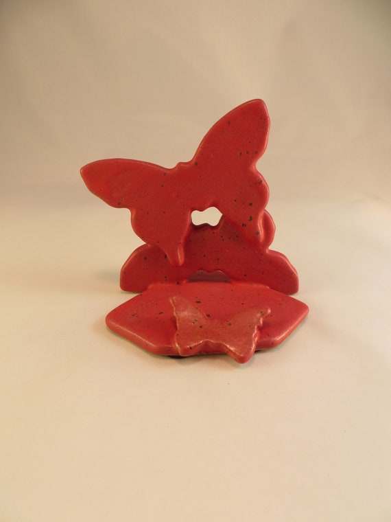 Titulaire De Carte Visite Papillon Poterie Ceramique