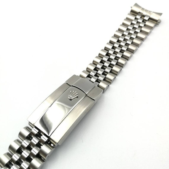 Rolex 20mm replacement aftermarket jubilee strap with oyster clasp