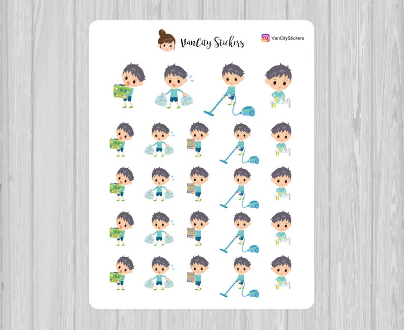 Chore Chart Stickers Chores Stickers Kids Chores Lucas image 0