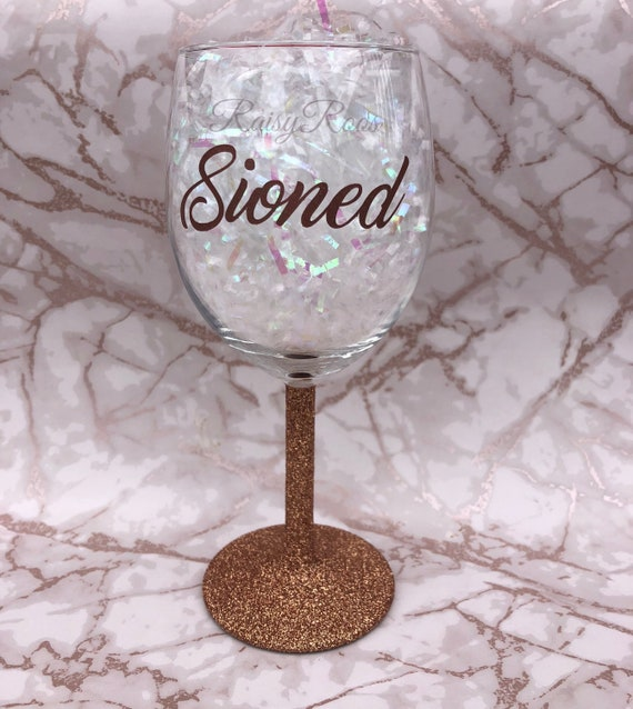 Personalised UNICORN Glitter Wine Glass Mother/'s Day Gift,18th 21st 30th 40th