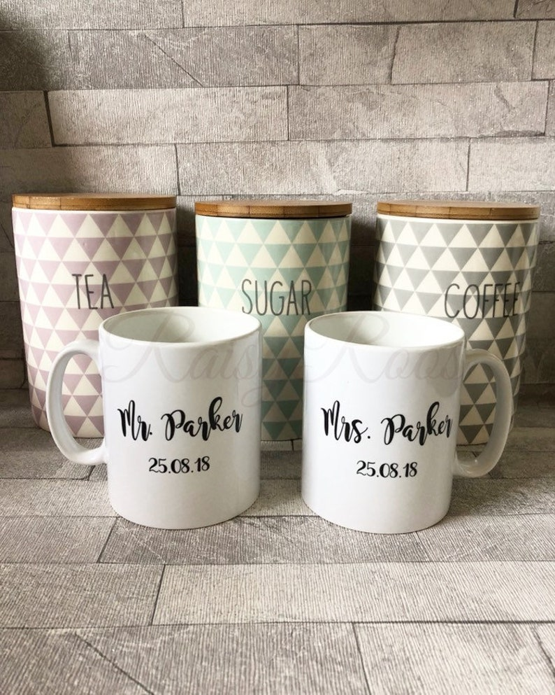 Mr And Mrs Est 2020 Mug Set Wedding Gift Custom Mugs Personalized Mug