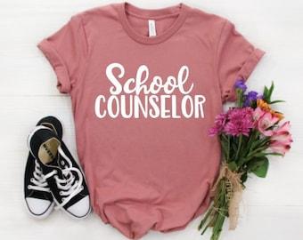 30cd58293d School Counselor Shirt / Teacher Shirts / Counselor Gift / Counselor Shirts