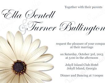 gerber daisy wedding invitations etsy