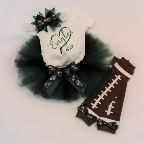 finest selection ff496 7d31b Philadelphia Eagles Tutu Outfit; Eagles Baby Outfit; Eagles Bodysuit;  Eagles Headband; baby leg warmers; Football outfit; eagles baby gift