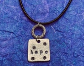Hope- stamped metal pewte...