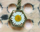 Simple daisy brass neckla...