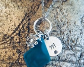 Sea glass customized pend...