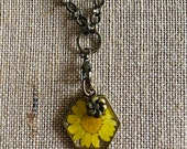 Yellow flower resin and b...