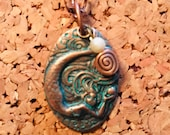 copper mermaid necklace...