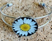 Real flower daisy bracele...
