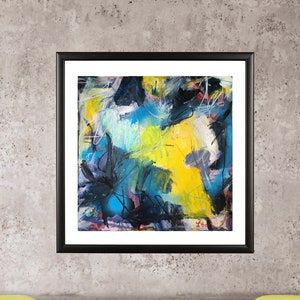 Large Abstract Painting Original Modern Art Paper Wall Decor Contemporary Painting Abstract Expressionist  Mixed Media
