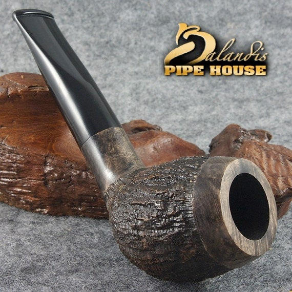 "Mr.BALANDIS ORIGINAL Briar Handmade Tobacco smoking Pipe "" TORONTO "" Grey Rock"