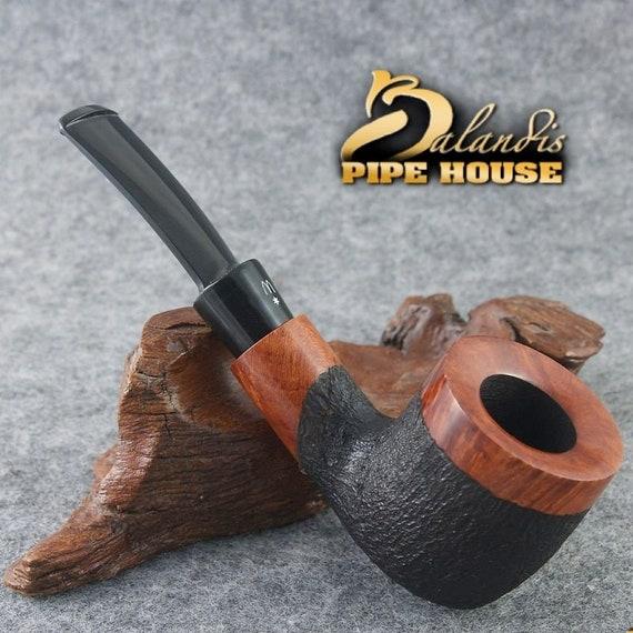 Original Briar Smoking Pipe Handmade by H.WOROBIEC nr.147 TEAK CARVED