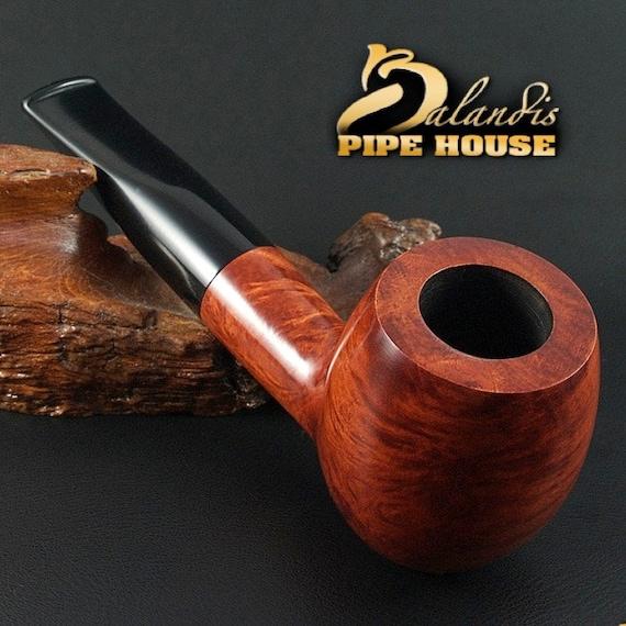 "Exclusive BALANDIS Original Briar Handmade Smoking Pipe "" BARNABA "" smooth TEAK"