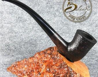 "Balandis EXCLUSIVE HAND MADE Smooth Briar wood smoking pipe "" Baggins Longo """