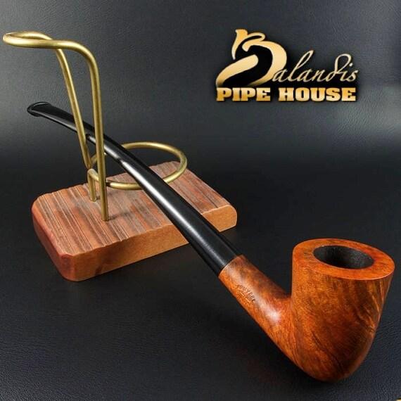 Mr.BALANDIS Hand Made & Waxed Smooth BRIAR wood smoking pipe * Young BILBO *