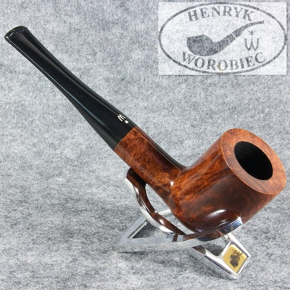 original smoking pipe handmade in POLAND by MASTER H.WOROBIEC nr.72 sex smooth brown