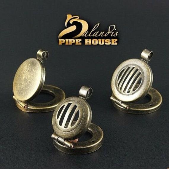 """BALANDIS original """" Old Brass """" wind cap for DIY wooden smoking pipe"""
