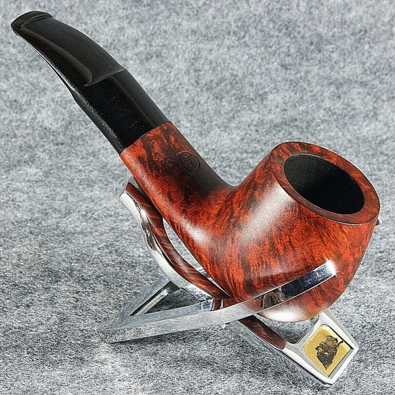 Exclusive Hand Made - Smooth BRIAR wood smoking pipe teak * MT OMEGA *
