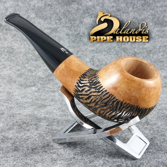 Original WOROBIEC Nr.107 ROACH FISH Briar Wood Handmade Tobacco Smoking Pipe
