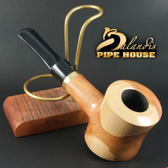 "Exclusive BALANDIS Original Handmade Pear wood Smoking Pipe "" X POKER NATURA """