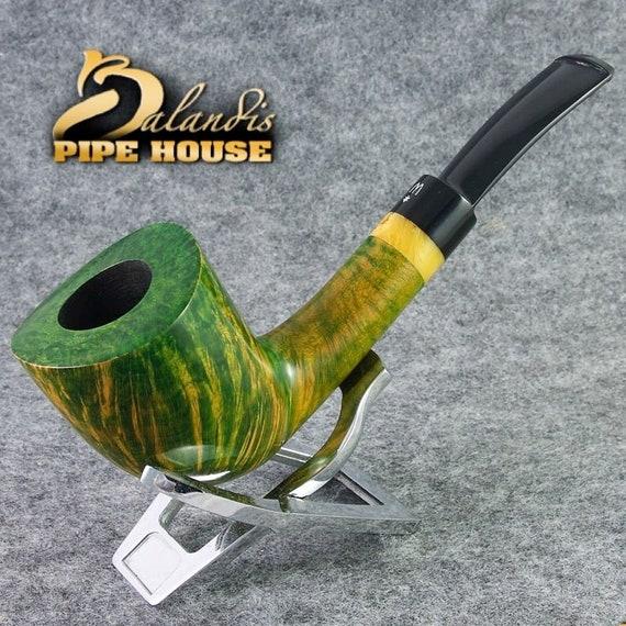 "Original WOROBIEC Nr.102 "" OCTOBER "" Briar Wood Handmade Tobacco Smoking Pipe"