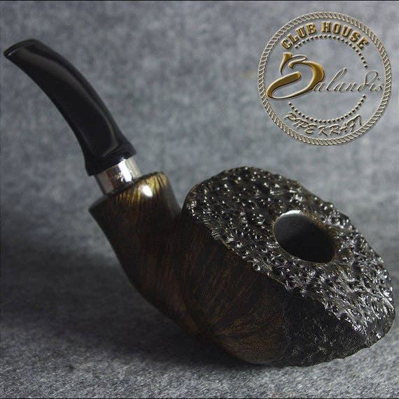 "Polinski! Original ITALIAN Briar FREEHAND smoking pipe "" Fan Kennis"" AUTOGRAPH"
