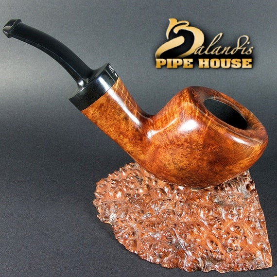 OUTSTANDING briar smoking pipe hand made by master H.WOROBIEC nr.84 smooth teak