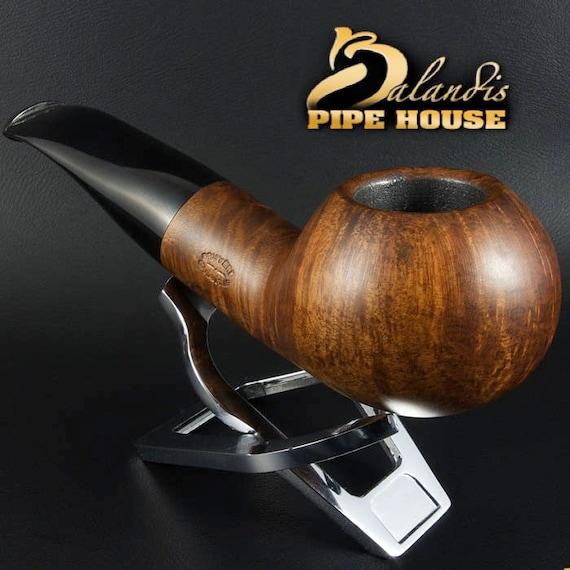 Mr.BALANDIS HAND MADE - Smooth Briar wood smoking pipe *Bison Barban*