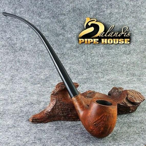 "Smooth Briar wood Tobacco - smoking pipe Long "" OLD SENTINEL "" LOTR Churchwarden"